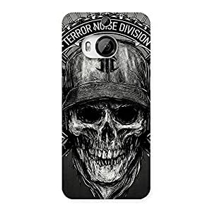 Gorgeous Grey Skull Terr Back Case Cover for HTC One M9 Plus