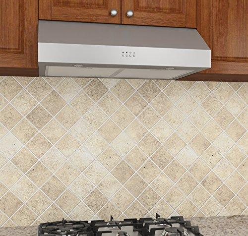 Ancona White Slim 5 Inch High 280 Cfm 3 Speeds Under Cabinet Range Hood 30 Inch Home Garden