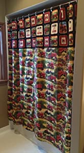 Farmall Red Tractor Shower Curtain