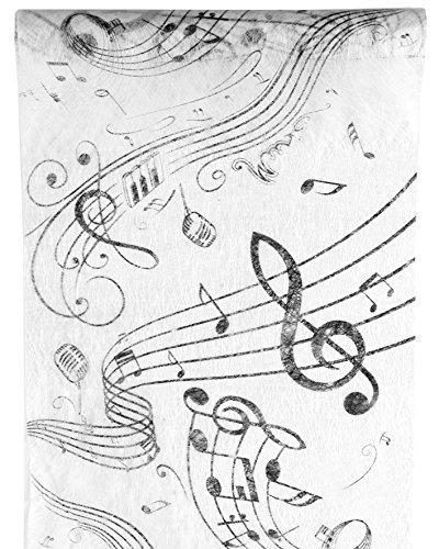 Tischlufer-Musik-Musiknoten-Notenschlssel-5m-x-30cm-Rolle-Tischband-Vlies-Dekostoff-Palandi