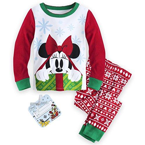 Disney Minnie Mouse Holiday Pj Pals 2 Pc Pants Pajama Set (2)