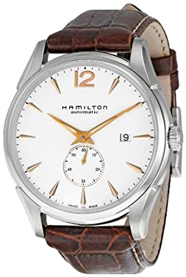 Hamilton Men's H38655515 Jazzmaster Slim White Dial Watch