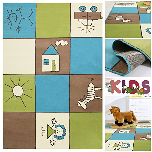 kinderteppich spielteppich bunt kariert mit k stchen. Black Bedroom Furniture Sets. Home Design Ideas