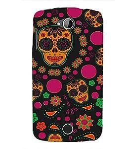 Colourful Skull Wallpaper 3D Hard Polycarbonate Designer Back Case Cover for Acer Liquid Zade Z530 :: Acer Liquid Zade Z530S
