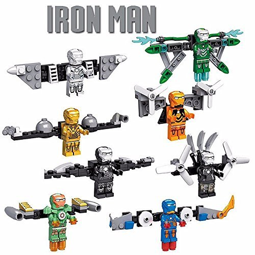 8 pcs (Iron Man 2 War Machine Costume)