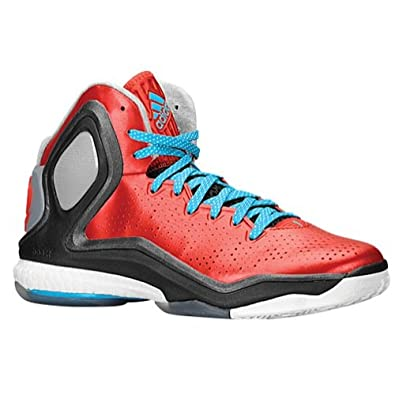 Men's Adidas Derrick Rose 5 Boost Basketball Shoes Scarlet/Solar Blue