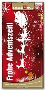 Weihnachtskarte, Grusskarte & Schweizer Premium Schokolade - Adventskalender Schlitten