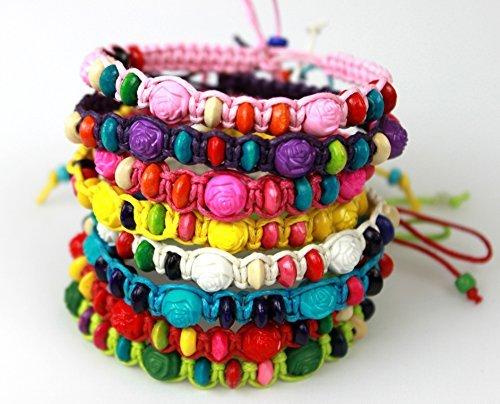 K&M Colorful Friendship Bracelets Fashion Jewelry Set of 8 Party favors
