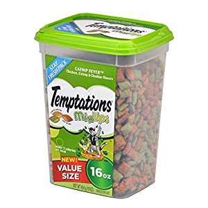 TEMPTATIONS MixUps Treats for Cats CATNIP FEVER Flavor 16 Ounces