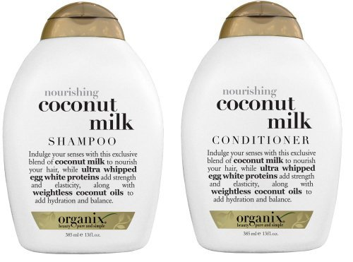 Organix: Nourishing Coconut Milk Shampoo + Conditioner, 13 oz Combo ...