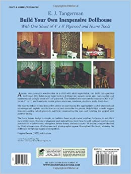 build your own inexpensive dollhouse dover woodworking e j tangerman 9780486234939 amazon. Black Bedroom Furniture Sets. Home Design Ideas