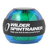 WILDER パワーリスト ローラーリストボール 握力 手首強化 リストトレーナー(ブルー)