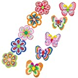 New 10 Girls Flower Butterfly School Hair Clip Barrettes Grips Sleepies Accessories