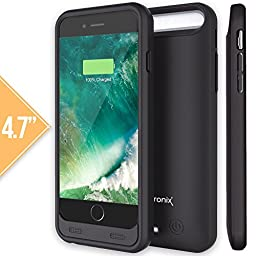 iPhone 6 / 6S Battery Case, Alpatronix BX140 (4.7-inch) MFi Apple Certified 3100mAh External Removable Rechargeable Protective Portable Charging Case [iOS 10+ Support or Below / Extended Juice Bank & Power Pack] - (Black)