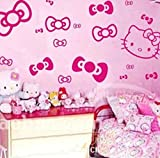 Liroyal Bowknot Hello Kitty Girls Bedroom Wall Car Stickers from Wall Stickers Warehouse Background sticker
