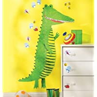 Wallies Crocodile Growth Chart Wall Decal
