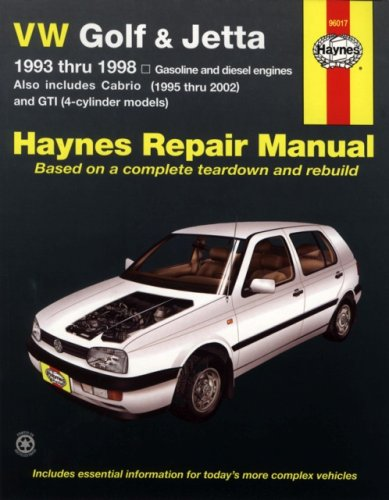 VW Golf & Jetta 1993 thru 1998 (Haynes Repair Manual) (Vw Jetta Owners Manual compare prices)