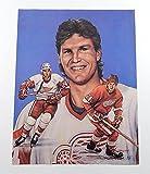 1991 Bob Probert 11 x 14 Lithograph Signed By Artist Doug West #'d 617/750 - Autographed NHL Art