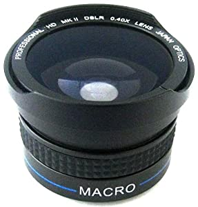Zeikos  ZE-3437F  37mm  0.40x high definition Fisheye lens with Macro attachment, includes lens pouch and cap covers (Life Time Warranty)