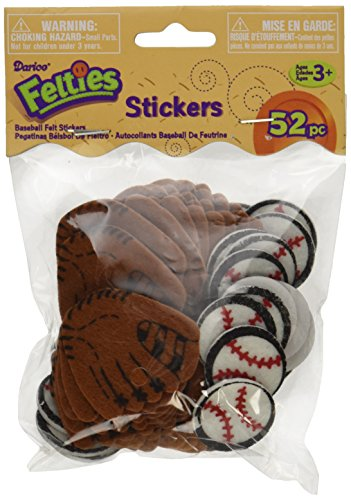Darice Feltie Stickers, Baseball, 52-Pack