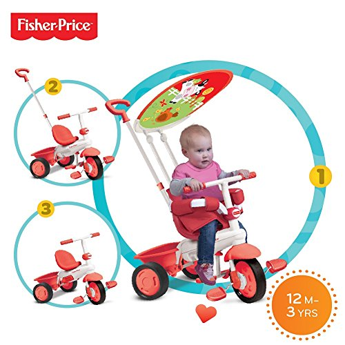 Fisher Price FP1461333 - Triciclo Classic Plus, Rosso