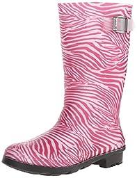 Kamik Zebra Rain Boot (Little Kid/Big Kid), Fuchsia, 11 M US Little Kid