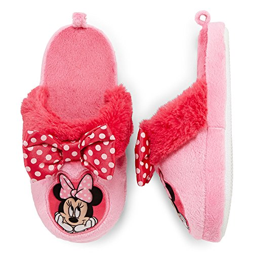 Disney Girl's Minnie Mouse Pink Slippers
