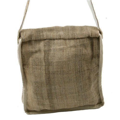 Hemp Fabric Shoulder Bag – Frayed Flap W04S65F
