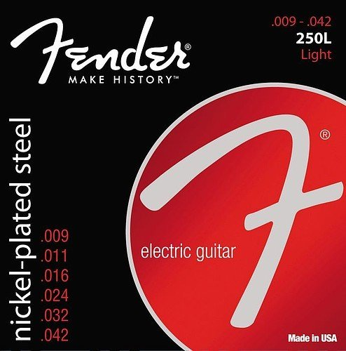 Fender 250L 9-42 Nickel Plated Steel Electric Guitar Strings 12 Sets (Fender Strings 250l compare prices)