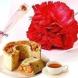母の日ギフト カーネーション(一輪挿し)とシフォンケーキ 花とスイーツ
