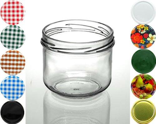 Cap+Cro – 160 Stück Sturzgläser 250 ml, Deckelfarbe: weiss