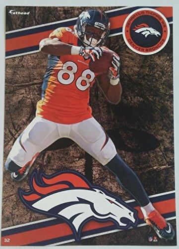 "DeMaryius Thomas 2014 NFL Fathead Tradeables 5"" x 7"" Denver Broncos - #32"