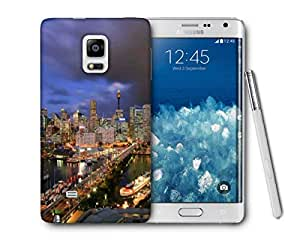 Snoogg Abstract Buildings Printed Protective Phone Back Case Cover For Samsung Galaxy NOTE EDGE