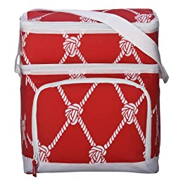 Whim by Cynthia Rowley Dual Compartment 16-Can Cooler - Red Rope