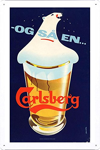 tin-sign-metal-poster-plate-8x12-of-carlsberg-beer-bear-1957-by-food-beverage-decor-sign