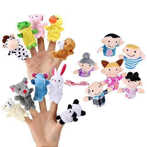 16-Pack-Finger-Puppet-Set-MANSA-10-Animals-6-People-Family-Members-Educational-Toys-for-Children-Story-Time-Shows-Playtime-Schools