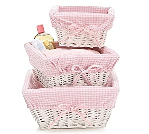 Choose nursery storage that will grow with your baby. Cute bins in your nursery's theme are fun but neutral bins and baskets can grow with your child. These natural baskets will complement your existing and future decor and they're a great storage solution for toys, toiletries, and other small items.