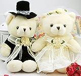 Amazon.co.jp結婚パーティ 披露宴の演出に ウェディングベア ウェルカムベア 洋装 テディベア 完成品 (20cm)