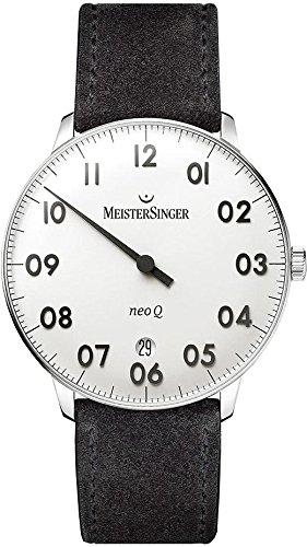 MeisterSinger NeoQ NQ901N Reloj con sólo una aguja Con pulsera adicional