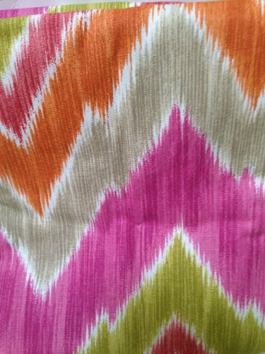 Shower Curtain Fabric Chevron