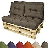 coussins pour canape euro palette coussin pour assise banquette 120x80x15 cm anthracite. Black Bedroom Furniture Sets. Home Design Ideas