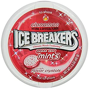 Ice Breakers Sugar Free Mints, Cinnamon, 1.5-Ounce Containers (Pack of 16)