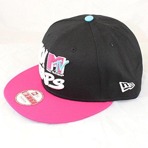 nuova-era-snapback-yo-stupro-mtv-raps-yo-nero-rosa-nero-nero-rosa