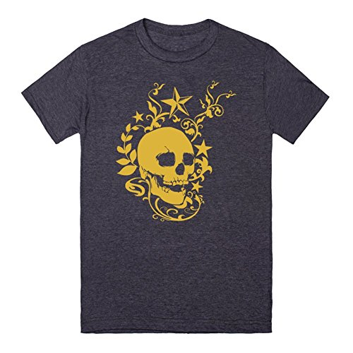 Totenkopf Skull Vintage Rock Classic Old Biker Star Retro Punk | 3XL Heathered Navy T-Shirt (Old Navy Rock Star compare prices)