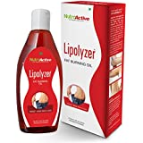 NutroActive Lipolyzer Fat Burning Oil (275 Ml), Slimming Oil, Weight Loss Massage Oil, Oils & Scrubs, Massage...
