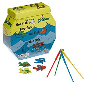Seuss  Fish  Fish on Amazon Com  One Fish Two Fish Puzzle And Game Dr  Seuss  Toys   Games