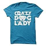 Sun Frog Shirts Women's Crazy Dog Lady T-Shirt XL Sapphire