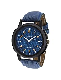 Relish Analog Black Dial Watch For Men- RELISH-484