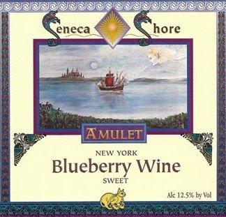Nv Seneca Shore Wine Cellars 100% Blueberry Wine, Sweet Fruit Wine, 750 Ml