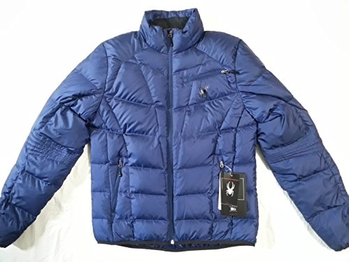 SPYDER Men`s Primo Down Jacket (Medium, Navy Blue)